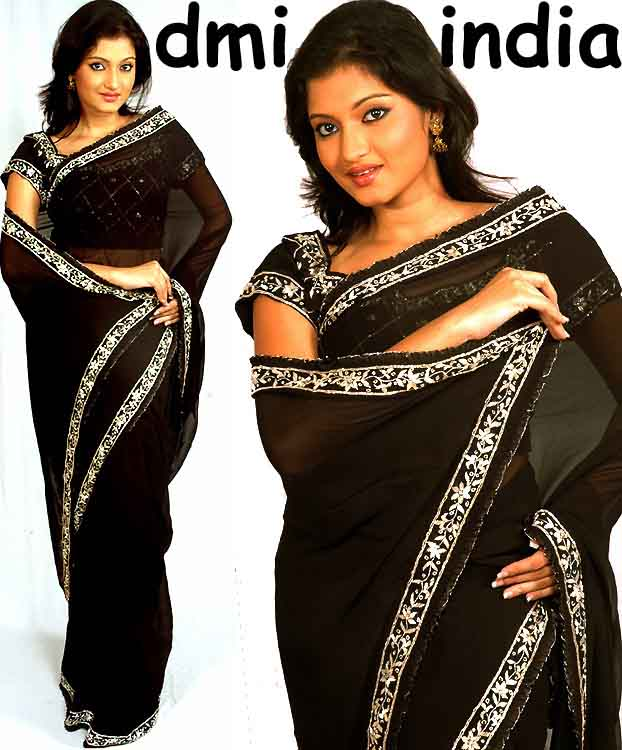 Black Zardosi Silk RTS